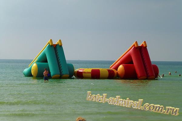 Анапа Центральный пляж горки